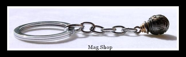 Ahu`ura Porte-Clefs Perle Gravée de Tahiti Modèle 1 MAG.SHOP