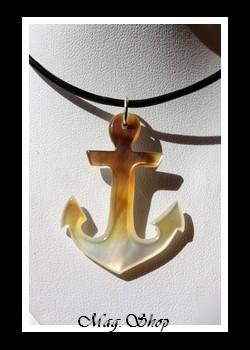 Ancre Marine Collier Nacre de Tahiti Modèle 2 MAG.SHOP