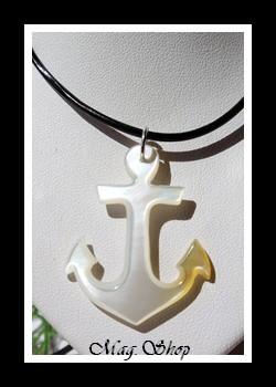 Ancre Marine Collier Nacre de Tahiti Modèle 4 MAG.SHOP