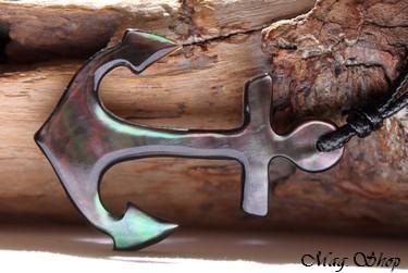 Ancre Marine Collier Nacre de Tahiti Modèle 7 MAG.SHOP