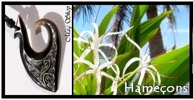 Bijoux Hameçons de TAHITI Collection Vahinés MAG.SHOP