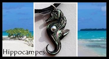 Bijoux Hippocampes  de TAHITI Collection Vahinés MAG.SHOP TAHITI