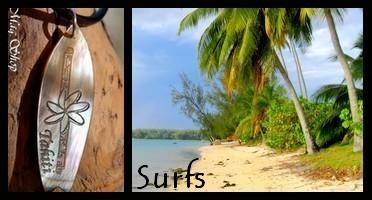 Bijoux Surfs de TAHITI Collection Vahinés MAG.SHOP