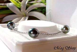 Bracelet Vamiti 3 Perles de Tahiti Modèle 2 MAG.SHOP