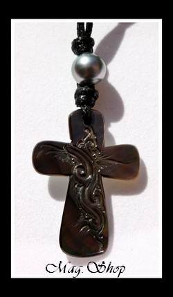 Croix Faatemu Collier Nacre & Perle de Tahiti Modèle 1 MAG.SHOP