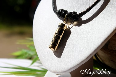 Dauphin Tahitien Collier OR 750 Agate Noire P21N MAG.SHOP