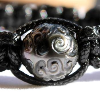 Etera Bracelet Perle de Tahiti Gravée Arbres de Vie Modèle 3 MAG.SHOP