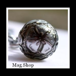 Faana Hibicus Porte-Clefs Perle Gravée de Tahiti Modèle 2 MAG.SHOP