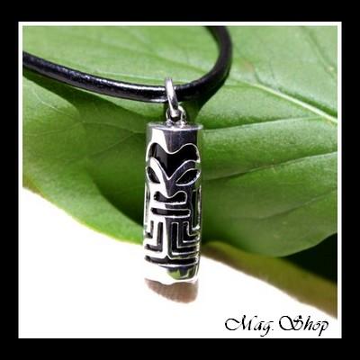Fenua Collection Tiki Onyx Véritable Argent Rhodié 925 MAG.SHOP TAHITI