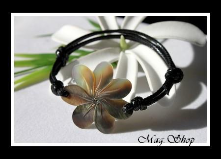 Fleur de Tiaré  Bracelet Nacre de Tahiti Modèle 4 MAG.SHOP