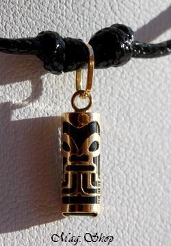 Force Collier Tiki Marquisien Agate Noire - OR 750-1000 P12N MAG.SHOP