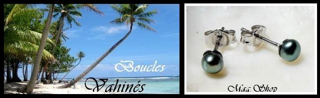 Gamme Vahinés Boucles d`Oreilles de Tahiti MAG.SHOP