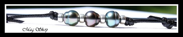 Heiani 3 Perles de Tahiti Collier Surfeur Modèle 4 MAG.SHOP