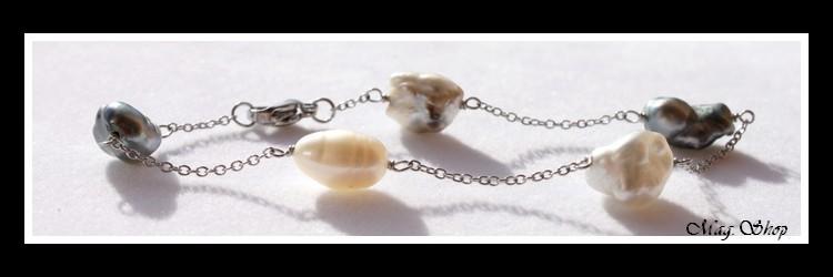 Heremiti Bracelet 5 Perles Keishis de Tahiti Modèle 1 MAG.SHOP