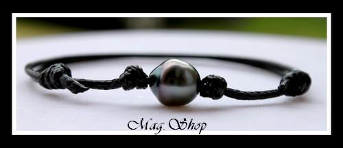 Hitiaa Bracelet Surfeur Perle de Tahiti Modèle 1 MAG.SHOP