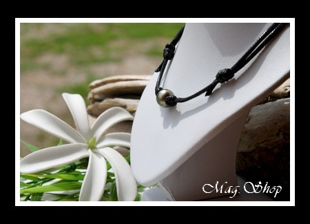 Hitiaa Collier Surfeur Perle Ronde de Tahiti Modèle 1 MAG.SHOP