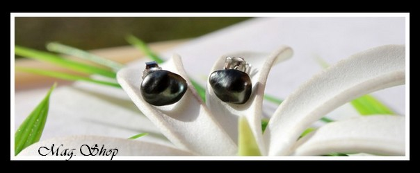 Kamaka Boucles D`Oreilles Perles Keishis de Tahiti Modèle 22 MAG.SHOP