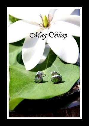 Kamaka Boucles dOreilles Argent Rhodié 925 Perles Keishis  de Tahiti Modèle 8 MAG.SHOP