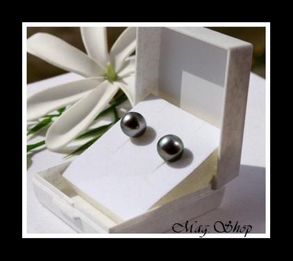Kamaka Boucles d`Oreilles Perles de Tahiti Modèle 10 MAG.SHOP