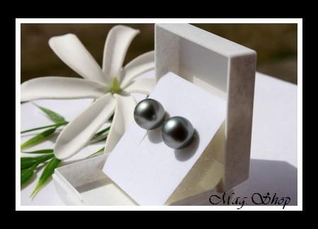 Kamaka Boucles d`Oreilles Perles de Tahiti Modèle 9 MAG.SHOP