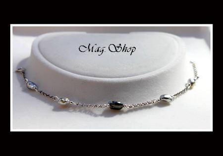 Keishis Collection - Chevillère Nuku Hiva Argent Rhodié 925 5 Perles Keishis de Tahiti MAG.SHOP