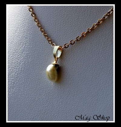 Keishis Collection - Pendentif Hiti Plaqué OR Vermeil  (0.12g) Perle Keishi de Tahiti MAG.SHOP