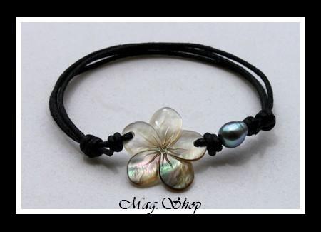 bracelet heivanui fleur hibiscus nacre perle de tahiti. Black Bedroom Furniture Sets. Home Design Ideas