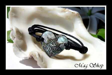 Marquises Collection - Bracelet Coeur Maori Nacre de Tahiti MAG.SHOP