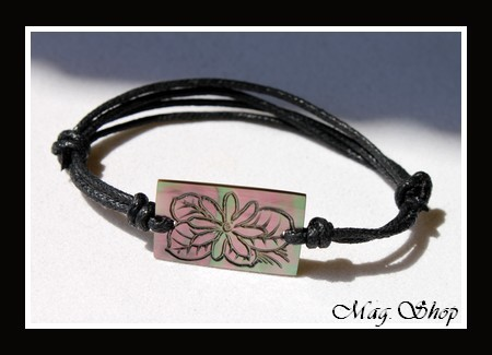 Marquises Collection Bracelet Moorea Fleur de Tiaré Nacre de Tahiti 2.5cm MAG.SHOP