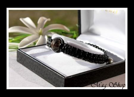Matahi TIKI Bracelet 3 Perles de Tahiti MAG.SHOP