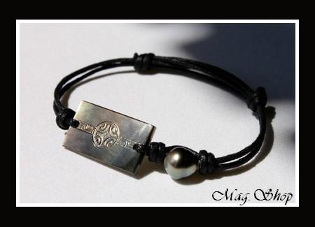 bracelet farerua nacre perle de tahiti. Black Bedroom Furniture Sets. Home Design Ideas