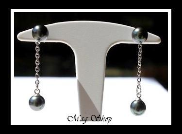 Monoihere Boucles d`Oreilles 4 Perles de Tahiti Modèle 1 MAG.SHOP