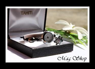 Montre Tiarenui Perle & Nacre Fleur de Tiaré de Tahiti Modèle 1 MAG.SHOP
