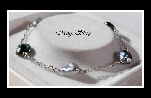 Nuku Hiva Bracelet 5 Perles Keishis de Tahiti Modèle 4 MAG.SHOP
