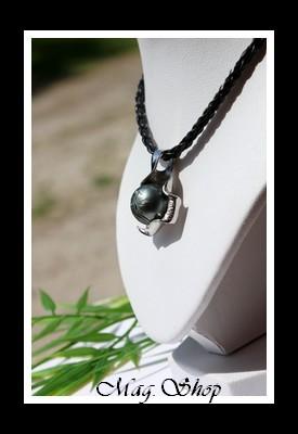 Papeto`ai Collier Huître Perle Ronde Gravée de Tahiti Modèle 5 MAG.SHOP