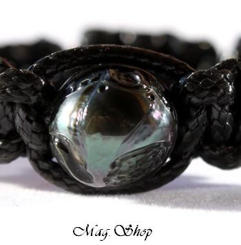 Punarau Raie Bracelet Perle Gravée de Tahiti Modèle 7 MAG.SHOP