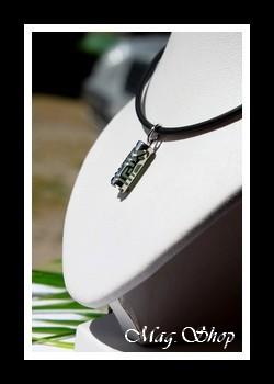Raihere Collier Tiki Adventurine Argent Rhodié 925  Modèle 3 MAG.SHOP