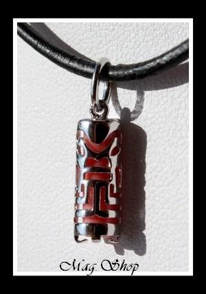Raihere Collier Tiki Marquisien H2.5cm - Argent 925 Modèle 5 MAG.SHOP