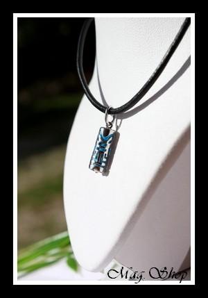 Raihere Collier Tiki Turquoise Marquisien H2.5cm - Argent 925 Modèle 6 MAG.SHOP
