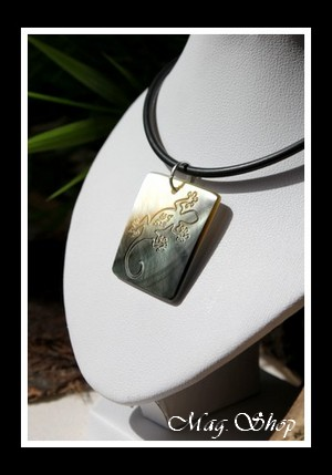 Rangiroa Margouillat Collier Nacre de Tahiti 3cm MAG.SHOP