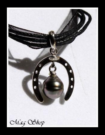 collier fer cheval perle de tahiti. Black Bedroom Furniture Sets. Home Design Ideas