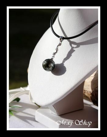 Tefarerii Collier Perle de Tahiti Gravée Fleur de Tiaré MAG.SHOP TAHITI