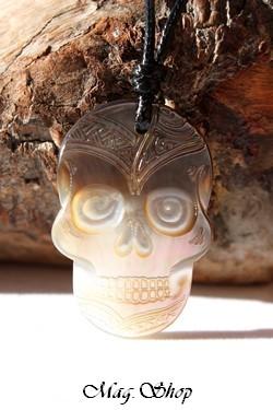 Tête de Mort Collier Nacre de Tahiti Modèle 1 MAG.SHOP