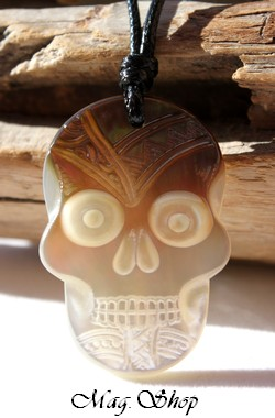 Tête de Mort Collier Nacre de Tahiti Modèle 4 MAG.SHOP