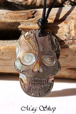 Tête de Mort Collier Nacre de Tahiti Modèle 5 MAG.SHOP