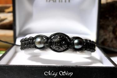 Tetupaia Bracelet  3 Perles de Tahiti Modèle 3 MAG.SHOP