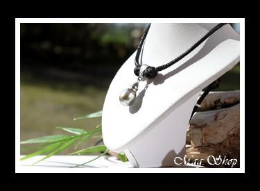 Tikehau Collier Marquisien Argent Rhodié 925 Perle de Tahiti Modèle 5 MAG.SHOP