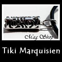 Tiki Marquisien Argent Rhodié 925 Pierres Véritables MAG.SHOP TAHITI