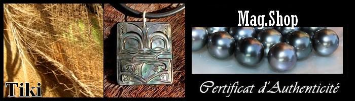 Tikis de Tahiti Bijoux Nacre de Tahiti MAG.SHOP