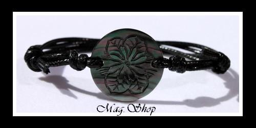 Tuamotu Fleur de Tiaré Bracelet Nacre de Tahiti Modèle 1 MAG.SHOP
